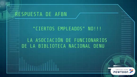 AFBN Responde A Directora De La Biblioteca Nacional De Uruguay